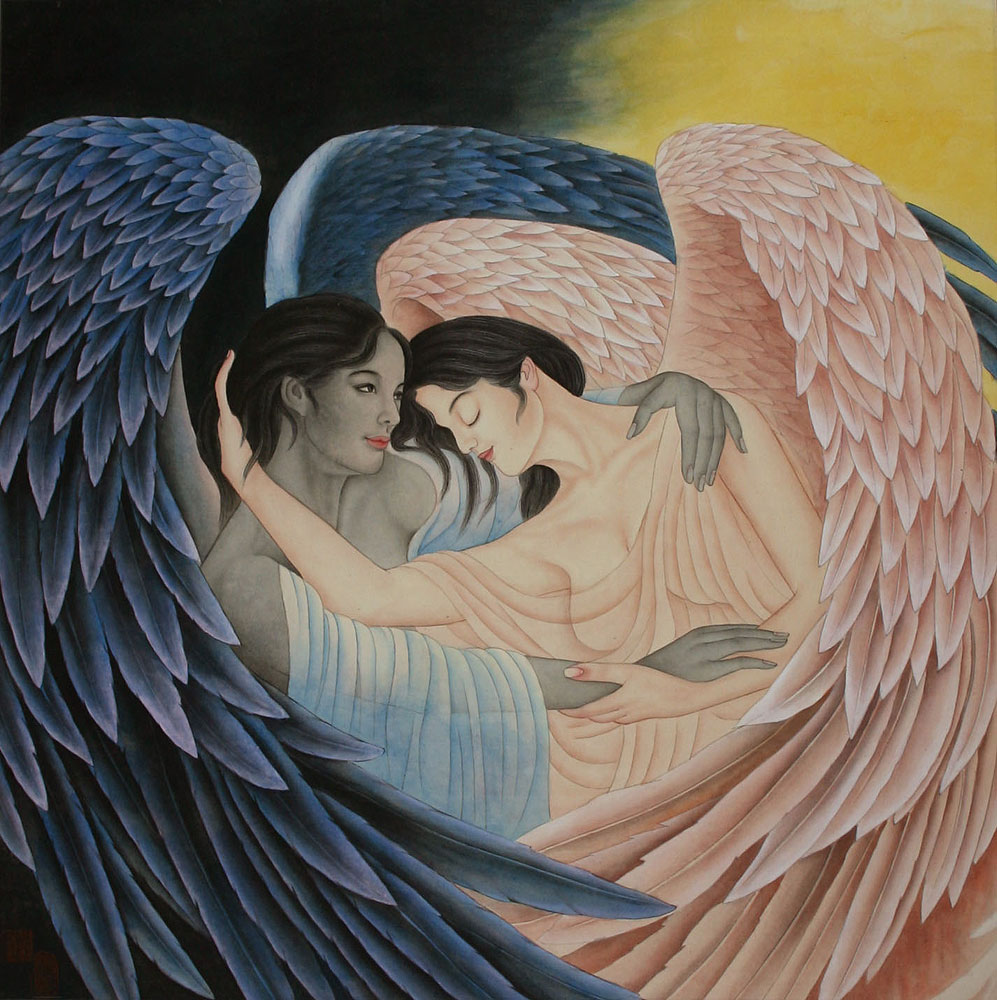 Angels Embrace - Custom Painting