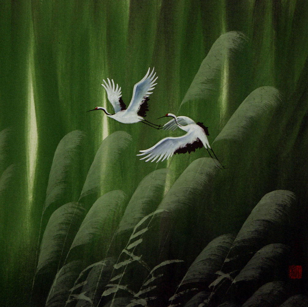 Summer Flight - Asian Art Painting