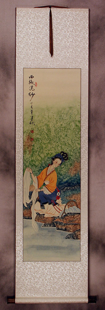 Xi Shi - Most Beautiful Woman in Chinese History - Wall Scroll