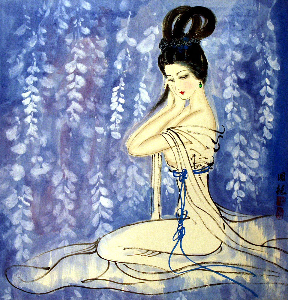 Asian lady paintings