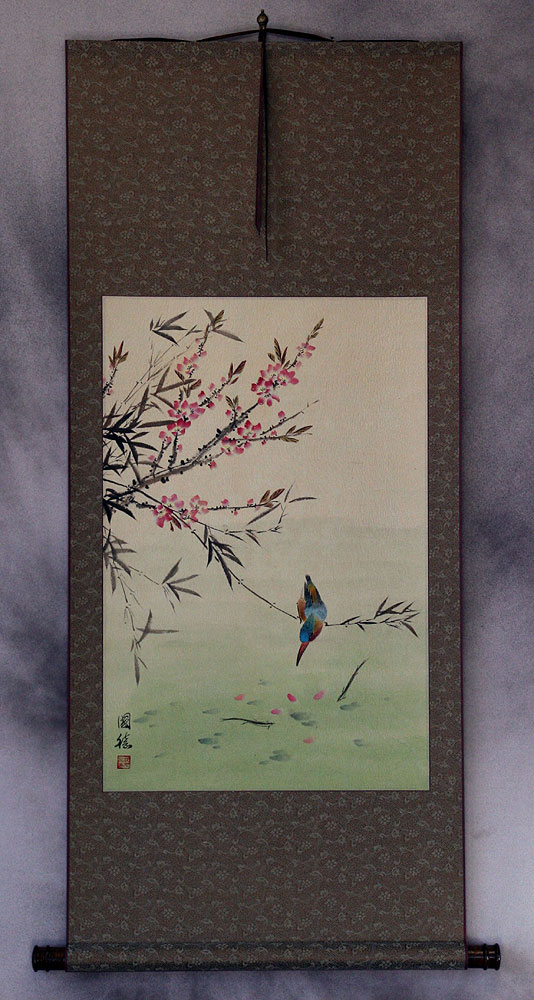 Bird & Flower - Asian Art Wall Scroll