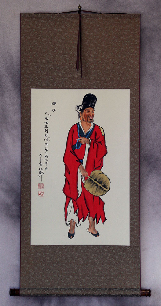 The Mad Monk - Ji Gong - Wall Scroll