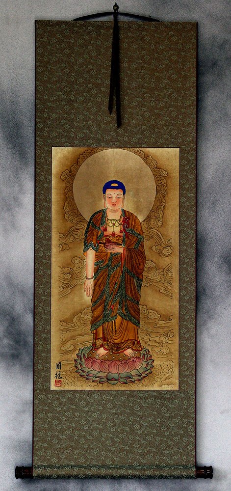 The Buddha Shakyamuni - Partial-Print - Chinese Wall Scroll