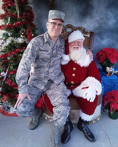 Airman on Santa's Lap
