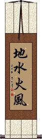 Four Elements Vertical Wall Scroll