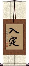 Zen Contemplation Vertical Wall Scroll