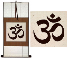Om Symbol<br>Hindu / Buddhist Wall Scroll