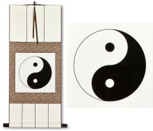 Yin Yang Symbol<br>Chinese Philosophy Wall Scroll