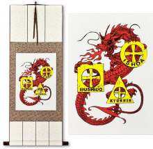 Bushido Ishoa Kyunnin Dragon<br>Wall Scroll
