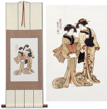 Beauties of the East<br>Japanese Woodblock Print Repro<br>WallScroll