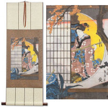 View from the Garden<br>Japanese Woodblock Print Repro<br>WallScroll