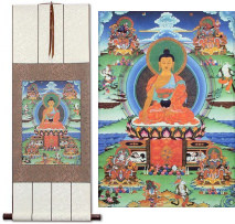 Buddhist Altar Print<br>Wall Scroll