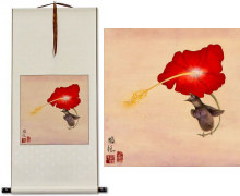 Bird and Flower WallScroll