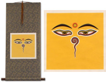 Eyes of Buddha<br>Print Wall Scroll