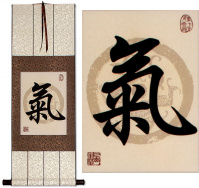 Spiritual Energy in Chinese and Japanese Kanji<br>Print Scroll