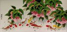 Enormous Koi Fish and Lychee Painting
