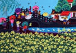 March Market<br>Over the Bridge<br>Chinese Folk Art Painting