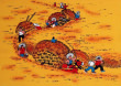 Wheat Harvest<br>Chinese Peasant Painting
