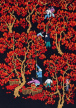 Picking Jujubes<br>Chinese Folk Art Painting