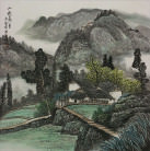 Asian Village Home Landscape Painting