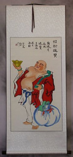 Great Happy Buddha Wall Scroll
