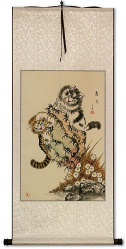 Cat Fun Chinese Wall Scroll