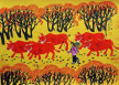Autumn Fields<br>Chinese Folk Art Painting