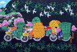 Going to Bamboo Market<br>Chinese Folk Art Painting