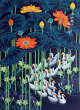 Daffodil Ducks Return Home<br>Asian Folk Asian Art Painting