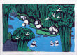 Pandas in Southern China Bamboo Forest<br>Folk Art