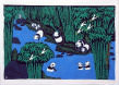 Panda Folk Asian Art Painting