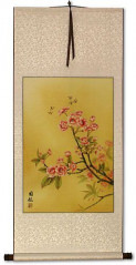 Bees & Flowers Wall Scroll