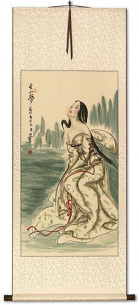 Beautiful Woman Wu Mountain Dreams - Chinese Wall Scroll