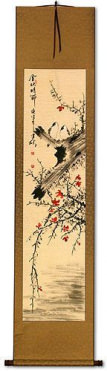 The Golden Autumn - Bird and Flower Chinese Scroll