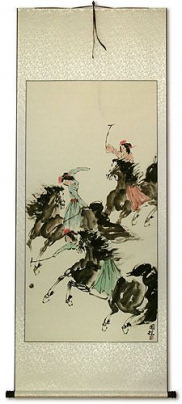 Polo Horse Wall Scroll