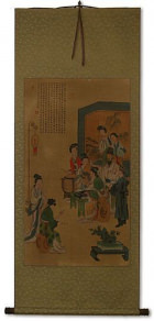 Musicians - Partial-Print Wall Scroll