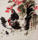 Chicken Asian Art