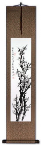 Blooming Plum Blossom - Fragrant Breeze - Wall Scroll