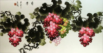 Chinese Grapevine Painting