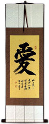 LOVE Character Wall Scroll