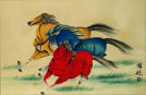 Colorful Abstract Horse Asian Art