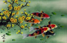 Plum Blossom & Koi Fish Painting