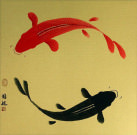 Yin Yang Koi Fish Asian Art