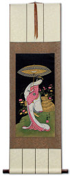 Actress Segawa Kikunojo - Woodblock Print Repro - Japanese Scroll