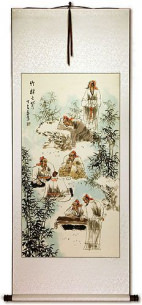 Bamboo Grove - Wall Scroll