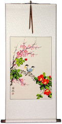 Birds and Flower Wall Scroll