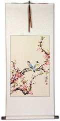 Birds and Flowers - Large Wall Scroll