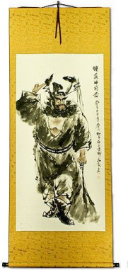 Zhong Kui Ghost Warrior Wall Scroll