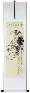 Classic Orchid Wall Scroll