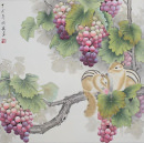 Squirrels on the Grapevine Painting